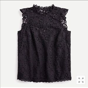 NEW. J.Crew mock neck top in embroidered eyelet 3X